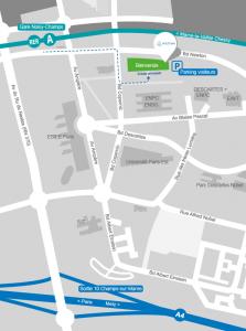 plan d'accès Ifsttar MLV